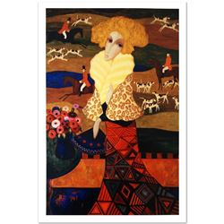 "Sergey Smirnov (1953-2006), ""Tapestry Of The Hunt"" Limited Edition Mixed Media o"