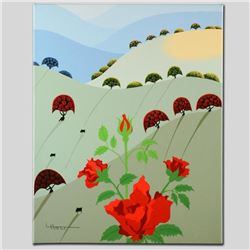"""Pushing Up Roses"" Limited Edition Giclee on Canvas by Larissa Holt, Numbered an"