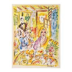 "Wayne Ensrud ""Auberge de L'ill, France (3-star French restaurant)"" Mixed Media O"