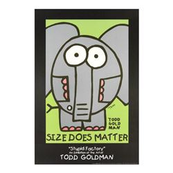 """Size Does Matter"" Collectible Lithograph Hand Signed by Renowned Pop Artist Tod"