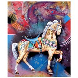 """Yankel Ginzburg, """"Carousel"""" Hand Signed Limited Edition Serigraph with Letter of"""