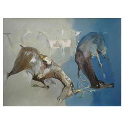 """Edwin Salomon, """"Survival"""" Hand Signed Limited Edition Serigraph with Letter of A"""