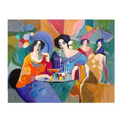 """Isaac Maimon, """"Cafe Array"""" Limited Edition Serigraph, Numbered and Hand Signed w"""