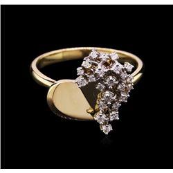 0.30 ctw Diamond Ring - 14KT Yellow Gold