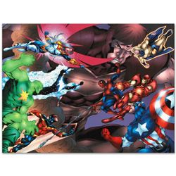 "Marvel Comics ""New Thunderbolts #13"" Numbered Limited Edition Giclee on Canvas b"