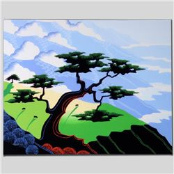 """Cows, Coast, Tree"" Limited Edition Giclee on Canvas by Larissa Holt, Numbered a"