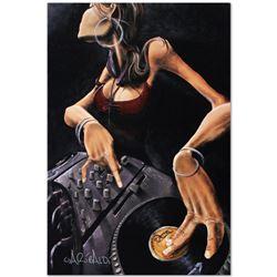 """DJ Jewel"" Limited Edition Giclee on Canvas (24"" x 36) by David Garibaldi, AP Nu"