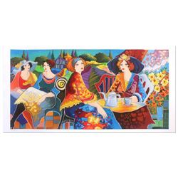 """Patricia Govezensky, """"Relaxed Afternoon in the Garden"""" Hand Signed Limited Editi"""