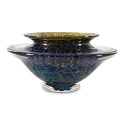 """Large Ikebana Flower Bowl"" Hand-Blown Glass Bowl, Hand Signed by GartnerBlade G"