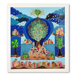 """Ilan Hasson, """"Tree of Life"""" Hand Signed Limited Edition Serigraph on Paper with"""