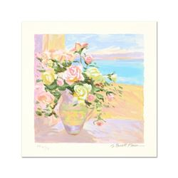 "S. Burkett Kaiser, ""Seaside Roses"" Limited Edition, Numbered and Hand Signed wit"