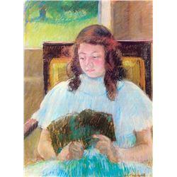 Mary Cassatt - Young Girl Reading