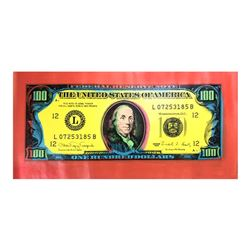 "Steve Kaufman (1960-2010), ""100 Dollar Old Ben Bill"" Hand Signed and Numbered Li"