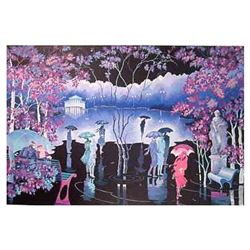 """Zina Roitman, """"Rainy Night"""" Hand Signed Limited Edition Serigraph with Letter of"""
