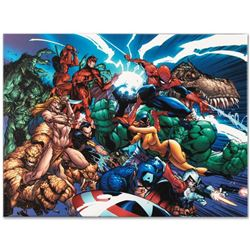 """Marvel Comics """"Marvel Comics Presents #1"""" Numbered Limited Edition Giclee on Can"""