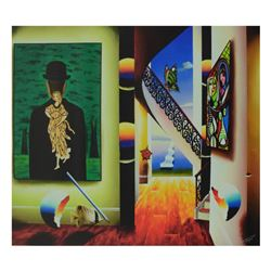 """Ferjo, """"Magritte of Beauty with Picasso"""" Limited Edition on Canvas, Numbered and"""