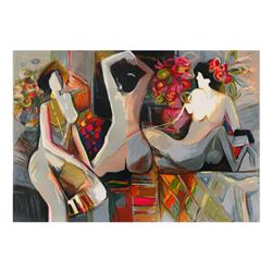 """Isaac Maimon, """"Nude Reflections"""" Limited Edition Serigraph, Numbered and Hand Si"""