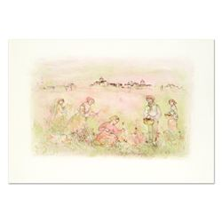 "Edna Hibel (1917-2014), ""Tuscan Fields"" Limited Edition Lithograph on Rice Paper"