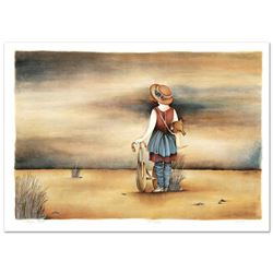 """Haya Ran, """"Our Lost Childhood Days"""" Hand Signed Limited Edition Serigraph with L"""