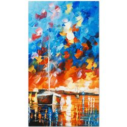 """Leonid Afremov (1955-2019) """"Night Comes"""" Limited Edition Giclee on Canvas, Numbe"""
