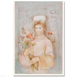 """Mayan Princess"" Limited Edition Lithograph (30"" x 41.5) by Edna Hibel (1917-201"