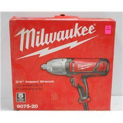 "MILWAUKKE 3/4"" ELECTRIC IMPACT WRENCH #9075-20"