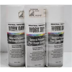 6 CANS OF WORKDAY GENERAL PURPOSE ALKYDE