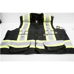 WORK KING SURVEYOR VEST; SIZE LRG