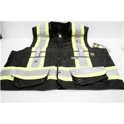 WORK KING SURVEYOR VEST; SIZE 3XL