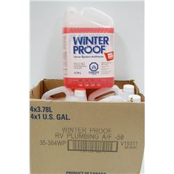 4 JUGS OF 3.78 LTR WINTERPROOF WATER SYSTEM