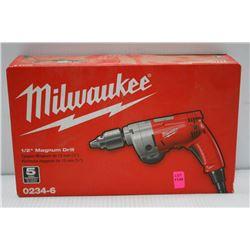 "MILWAUKEE 1/2"" ELECTRIC MAGNUMM DRILL MOD#  0234-6"