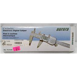 "AURORA 6"" STAINLESS ELECTRONIC DIGITAL CALIPER"