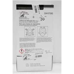 BOX OF 3M 100PC RESPIRATOR CLEANING WIPES
