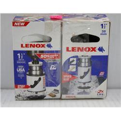 "2PK OF LENOX 1-1/2"" 38MM HOLE SAW W/ SPEED SLOT"