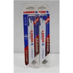 "2PK OF LENOX 5PC  6"", 14 TPI THIN METAL"