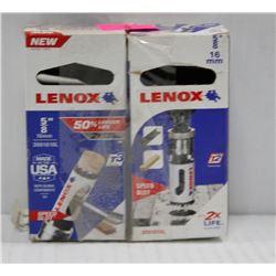 "2PK OF LENOX 5/8"" 16MM HOLE SAWS W/ SPEED SLOT"