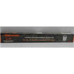 NEW DYNAMIC 14PC STANDARD METRIC SOCKET SET