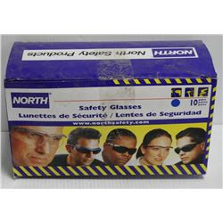 BOX OF 10 NORTH SAFETY GLASSES