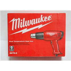 MILWAUKEE DUAL TEMPERATURE HEAT GUN, ELECTRIC