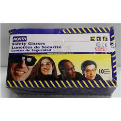 BOX OF 10 PAIR NORTH SAFETY GLASSES