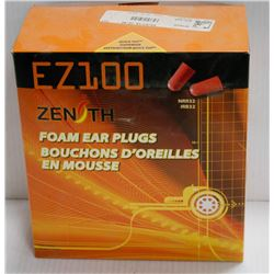 BOX OF ZENITH EZ100 FOAM EAR PLUGS