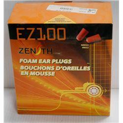 BOX OF ZENITH EZ200 FOAM EAR PLUGS
