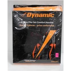 DYNAMIC 5 PIECE PLIER SET WITH COMFORT HANDLES