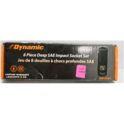 DYNAMIC 8 PIECE DEEP SAE IMPACT SOCKET SET