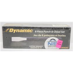DYNAMIC 8 PIECE PUNCH AND CHISEL SET