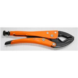 """GRIP-ON 10"""" LOCKING PLIERS CURVED JAW"""