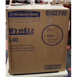 CASE OF WYPALL L40 ALL PURPOSE WIPING CLOTHS