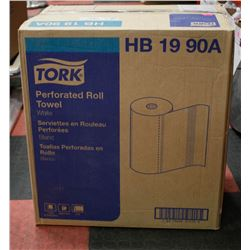 CASE OF TORK 2PLY PERFERATED ROLL TOWEL