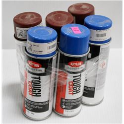 3 CANS OF KRYON INDUSTRIAL TOUGH COAT ACRYLIC