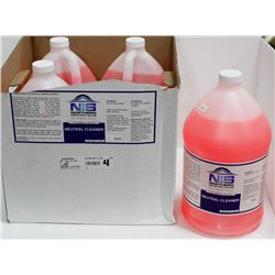 CASE OF FOUR 4L NIS COMMERCIAL NEUTRAL CLEANER